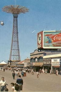 Coney Island of New York City and its famous boardwalk