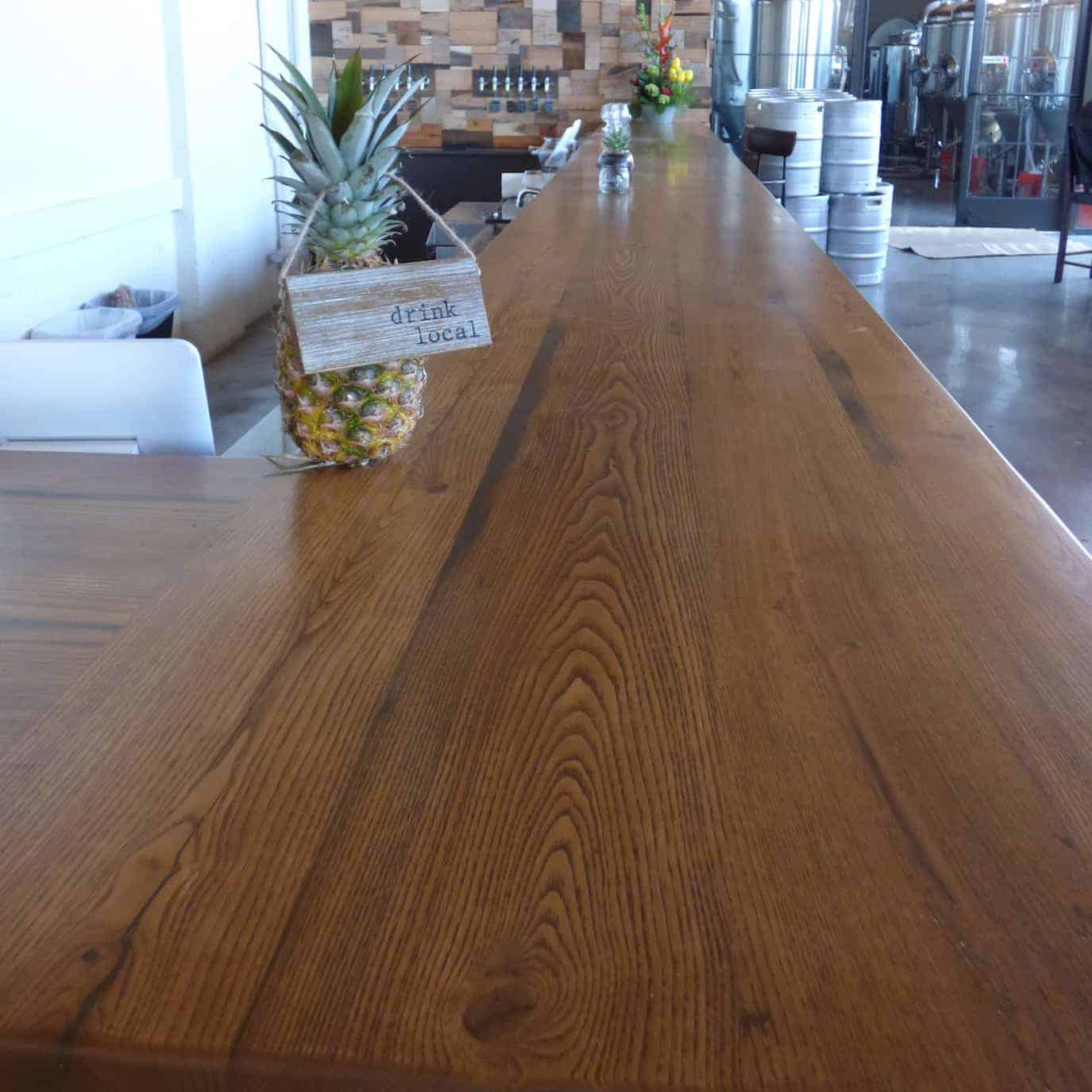 Reclaimed Chestnut Bar @ New Park Brewery