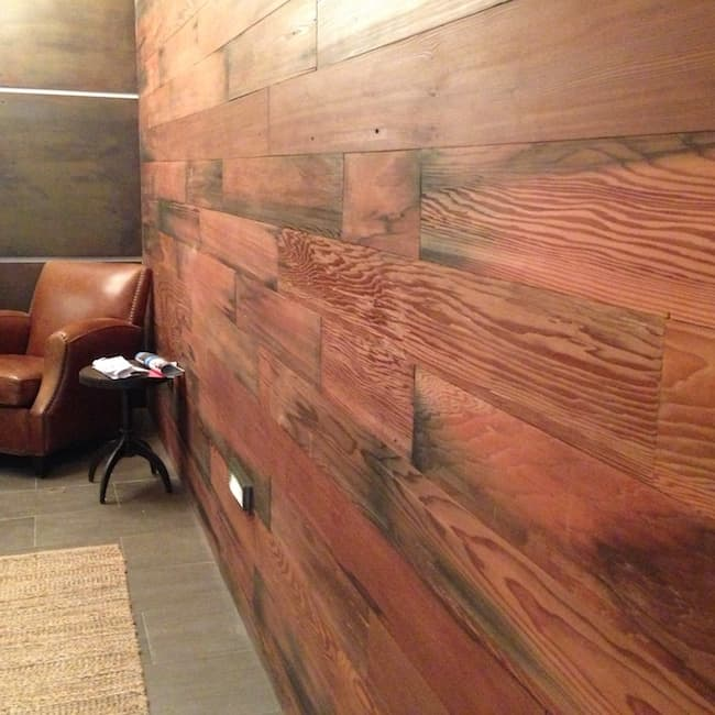 Reclaimed Redwood Water Tank wood paneling