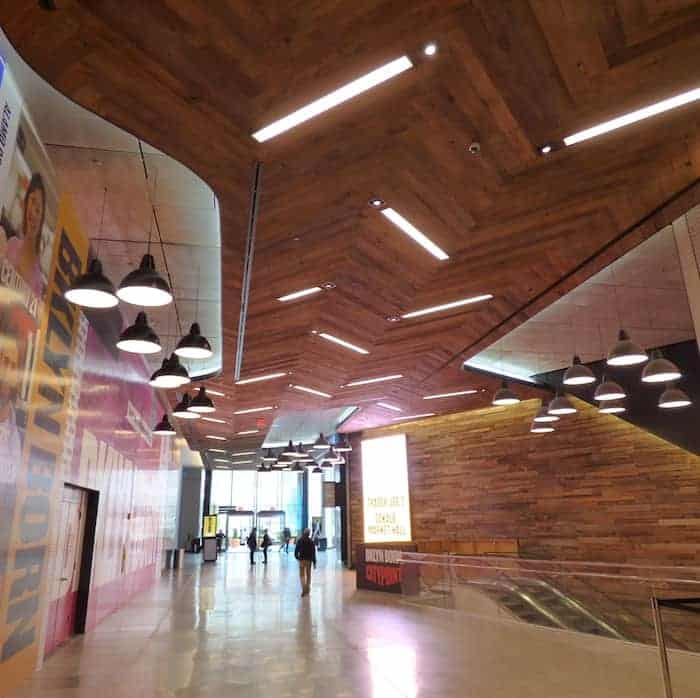 Mixed NE Softwoods ceiling at City Point, Brooklyn