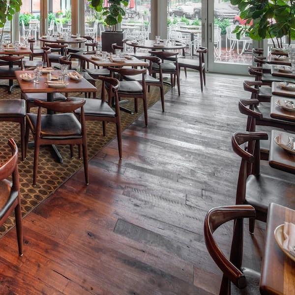 Reclaimed Heart Pine Flooring at Barcelona