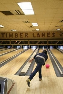 Maple and Pine bowling lanes