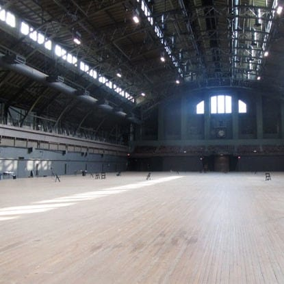 Park Ave Armory reclaimed wood floor