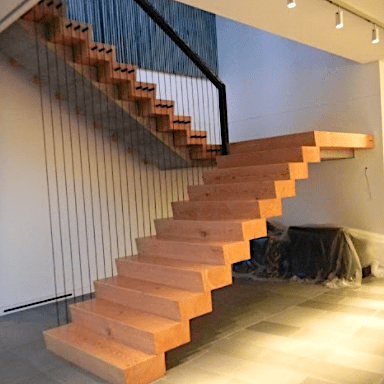 Douglas Fir Stair Treads reclaimed from the Rainier Brewery