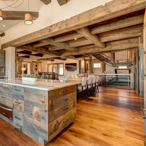 Reclaimed Wood Home Build by Vermont Barns