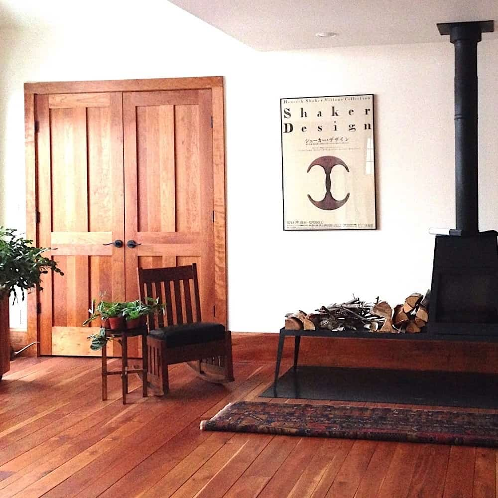 Early American Wood - cherry flooring and doorway
