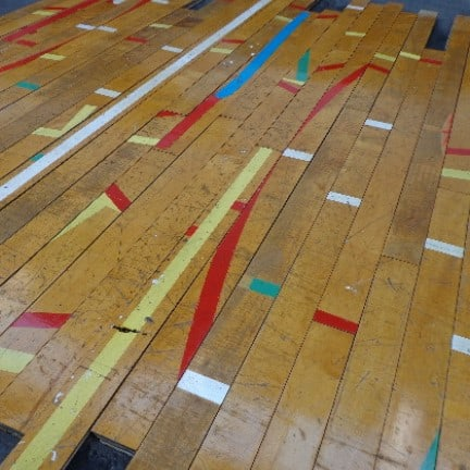 Reclaimed Gym Floor Maple