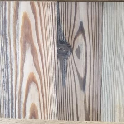 Sinker Heart Pine Sample for color range
