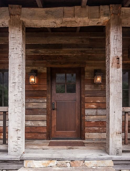 Barn Beam and Board Front Porch