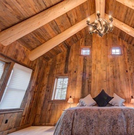Barn Beam and Board bedroom