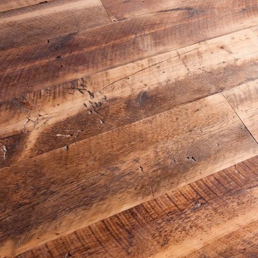 White Pine Skip Planed Flooring